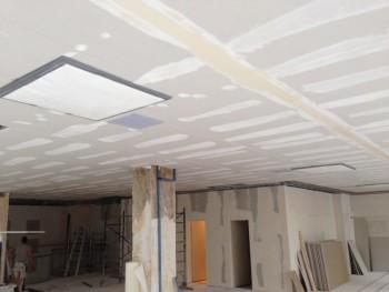 Wände und Decken nach dem Spachteln