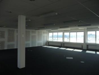 der-bueroraum-ist-mit-neuen-teppichboden-und-einer-trockenbautrennwand-ausgestattet